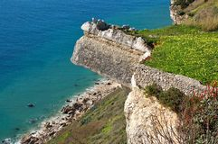 Wonderful landscape at the Atlantic west coast in Portugal royalty free stock photos