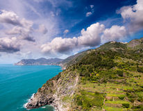 Wonderful landscape of Cinque Terre Coast, Italy Stock Photo