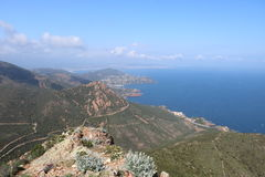 Wonderful landscape of the Esterel Mountain in French Riviera, Var, France.