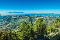 Wonderful landscape from Furlo, marche Italy Royalty Free Stock Photo