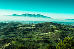 Wonderful landscape from Furlo, marche Italy. The Furlo Pass is a gorge on the ancient Roman road Via Flaminia in the Marche region of central Italy, where it royalty free stock images
