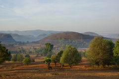 Wonderful landscape between Kalaw and Inle lake in Royalty Free Stock Photo