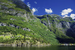 Wonderful landscape in Lysefjord Stock Image