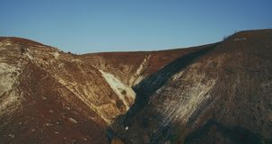 Wonderful landscape of mountain capturing with drone. stock footage