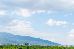Wonderful landscape mountain city and Building Thailand Royalty Free Stock Photography