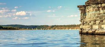 Wonderful landscape on the river. Stock Images