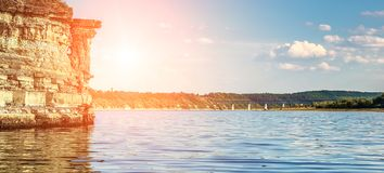 Wonderful landscape on the river. Royalty Free Stock Photos