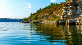 Wonderful landscape on the river. Royalty Free Stock Image