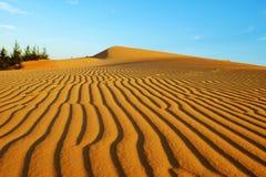 Wonderful landscape for Vietnam travel, Bau Trang sand hill Stock Photo