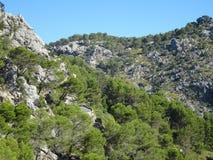 Wonderful landscape on the way to Sa Calobra, Mallorca, Ballears Royalty Free Stock Image