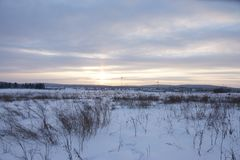 Wonderful landscape in the winter day stock photo