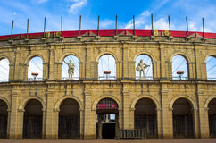 Wonderful life size reproduction of a Gallo-Roman Stadium. Stunning life size reproduction of a Gallo-Roman Stadium in the theme park of Puy du fou, France. This Stock Photo