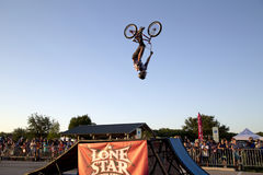 Wonderful Lone Star  BMX bicycle competition Texas. Wonderful  Lone Star BMX bicycle competition ,TX USA Stock Photos