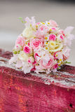 Wonderful luxury wedding bouquet of different flowers Royalty Free Stock Images