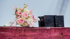 Wonderful luxury wedding bouquet of different flowers Royalty Free Stock Photography
