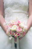 Wonderful luxury wedding bouquet of different flowers Royalty Free Stock Photo