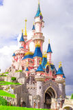 Wonderful magic princess castle at fairy-tale park Stock Photo