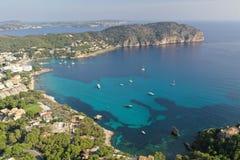 Wonderful Mallorca island coast line, isolated Camp de Mar bay.