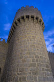 Wonderful medieval outer wall that protects and surrounds the ci Stock Photos