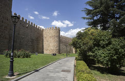 Wonderful medieval outer wall that protects and surrounds the ci Royalty Free Stock Photos
