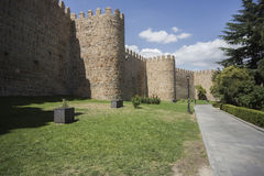 Wonderful medieval outer wall that protects and surrounds the ci Stock Images
