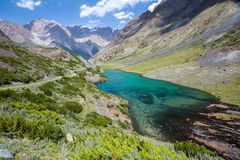Wonderful mountain lake, Tien Shan, Kyrgyzstan Stock Photography