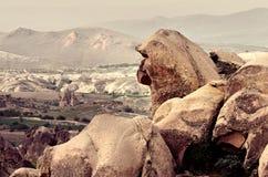 Wonderful mountain landscape  in Cappadocia, Turkey Stock Photos