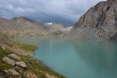 Wonderful mountain landscape lake, highland, peak. Beauty world Royalty Free Stock Photo