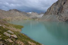 Wonderful mountain landscape lake, highland, peak. Beauty world Royalty Free Stock Photography