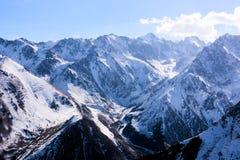 Wonderful mountain landscape. Snow, highland, peak Stock Images