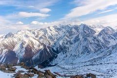 Wonderful mountain landscape. Snow, highland, peak Stock Photo