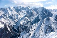 Wonderful mountain landscape. Snow, highland, peak Stock Photography