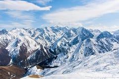 Wonderful mountain landscape. Snow, highland, peak Royalty Free Stock Photo