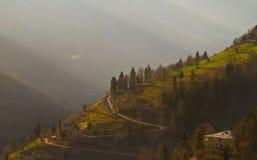 Wonderful mountain view in Georgian Royalty Free Stock Photography