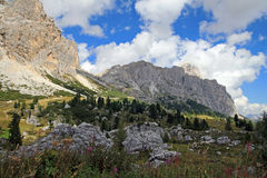 The wonderful mountain world in the south Tyrol Royalty Free Stock Images