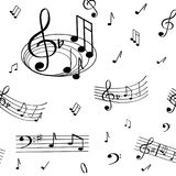 A wonderful musical note pattern. vector illustration