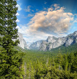 Wonderful National Park scenario. Mountain landscape with trees Stock Photos