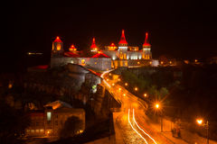 Wonderful night view of the medieval castle Royalty Free Stock Photos