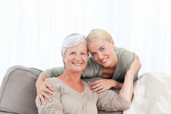 Wonderful nurse and her mature patient Royalty Free Stock Images