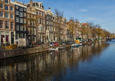 The wonderful Old Town of Amsterdam, Netherlands stock photo