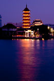 Wonderful Pagoda. Wonderful Chinese Pagoda Temple in Twilight time Royalty Free Stock Photos