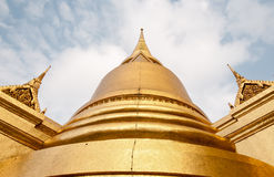 Wonderful Pagoda and Blue Sky. In Bangkok Thailand Stock Photography