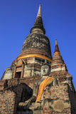 Wonderful Pagoda Wat Chaiwattanaram Temple Stock Photo
