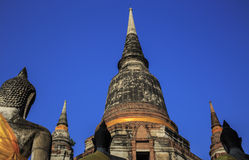 Wonderful Pagoda Wat Chaiwattanaram Temple Royalty Free Stock Image