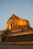 Wonderful Pagoda Wat Chedi Luang Temple. Chiang Mai, Thailand royalty free stock photography