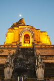 Wonderful Pagoda Wat Chedi Luang Temple. Chiang Mai, Thailand royalty free stock image