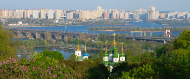 Wonderful panorama of the city. Royalty Free Stock Photography