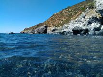 Sealandscape of Le Tombe on Elba Island, Italy. Wonderful panorama from Le Tombe beach. This place is located on Elba Island, in Tuscany, Italy. The island is a stock photos