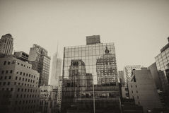 Wonderful panorama of New York Buildings from a Manhattan roofto Royalty Free Stock Photography
