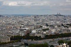wonderful panorama of the Parisian city stock photography